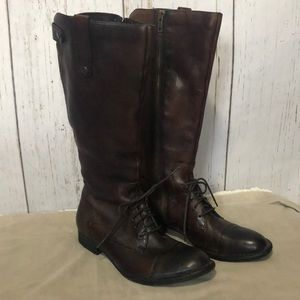Born CROWN Equestrian Riding Field Boot 8 zip up